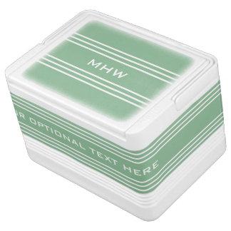 Moosgrün Stripes kundenspezifische Kühlbox