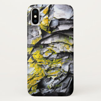 Moosiges Grau schaukelt Foto iPhone X Hülle