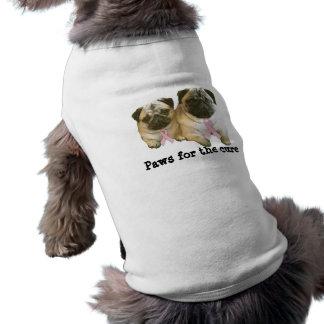 Mops-Brustkrebs-Haustier-Kleidung T-Shirt