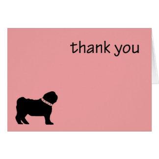 Mops danken Ihnen zu kardieren Karte