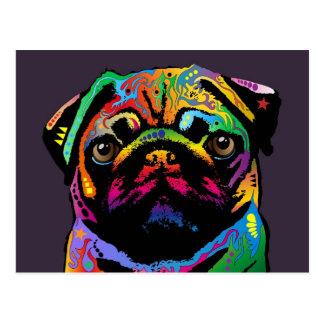 Mops-Hund Postkarte