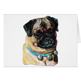 Mops-Hund Vintag Karte
