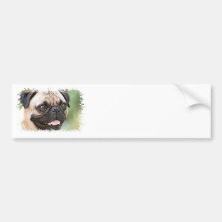 Mops-HundeAutoaufkleber Autoaufkleber