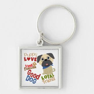 Mops-Hundebester Freund Schlüsselanhänger