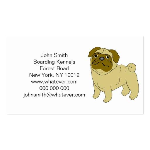 Mops-HundeBoarding-Hundehütten Visitenkarten Vorlage
