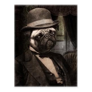 Mops-HundeDapper Herr Postkarte