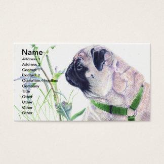 Mops-Hundegeschäfts-Karten Visitenkarte