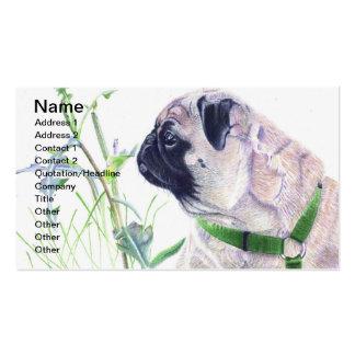 Mops-Hundegeschäfts-Karten Visitenkarten