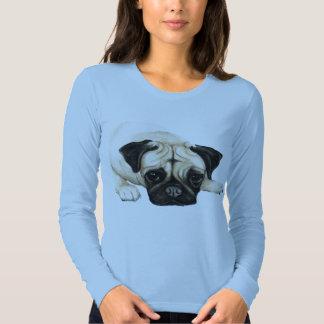 """""""Mops-"""" Hundekunst-Shirt Hemden"""