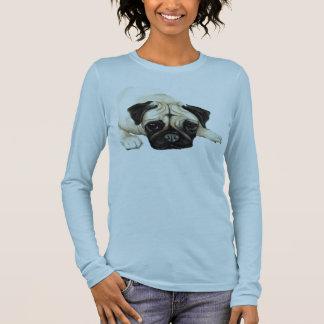 """""""Mops-"""" Hundekunst-Shirt Langärmeliges T-Shirt"""