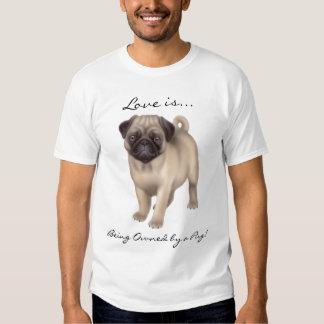 Mops-HundeLiebe-Shirt T-shirt