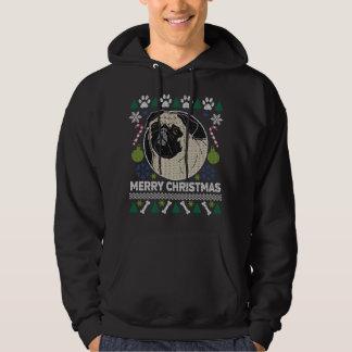 Mops-Hundezucht-hässliche Weihnachtsstrickjacke Hoodie