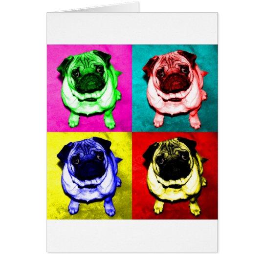 Mops Jack in 4 Farben Karte