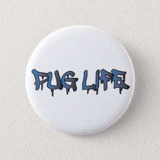 Mops-Leben Runder Button 5,1 Cm
