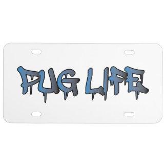 Mops-Leben US Nummernschild
