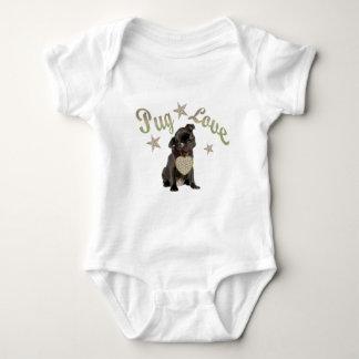 Mops-Liebe Baby Strampler