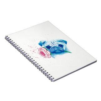 Mops-Liebe-Notizbuch Spiral Notizblock