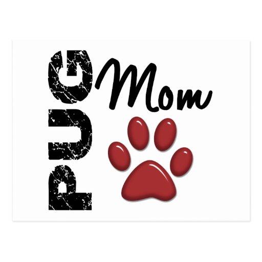 Mops-Mamma 2 Postkarten