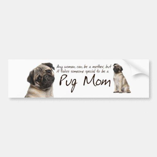 Mops-Mamma-Autoaufkleber