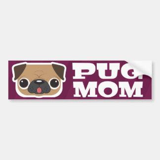 Mops-Mamma-Autoaufkleber Autoaufkleber