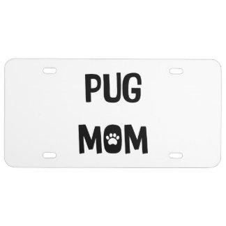 Mops-Mamma US Nummernschild