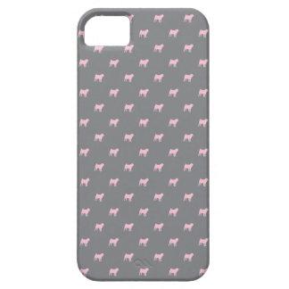 Mops-Muster iPhone 5 Fallrosa auf Grau Schutzhülle Fürs iPhone 5