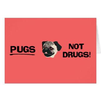 Mops-nicht Drogen-Karte Karte