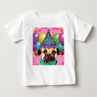 Mops-Party-Hund Baby T-shirt