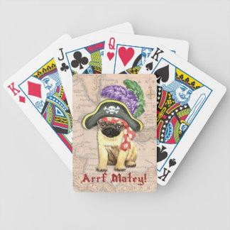 Mops-Pirat Bicycle Spielkarten