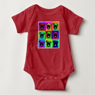 Mops-Popkunst-Babyausstattung Baby Strampler