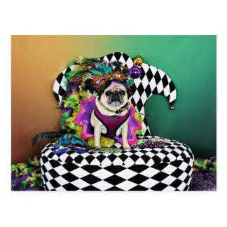 Mops Pugsgiving Karneval-2015 - Lucy - Postkarte
