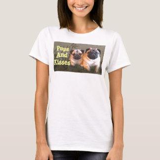 Mops-und Kuss-T - Shirt