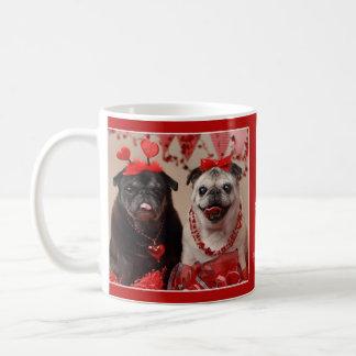 Mops-und Küssevalentine-Mops-Tasse Kaffeetasse