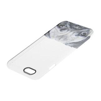 Mops, ursprünglicher Malereidruck Durchsichtige iPhone 6/6S Hülle