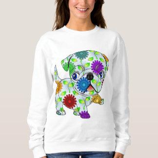 Mops-Welpe - gefärbt Sweatshirt