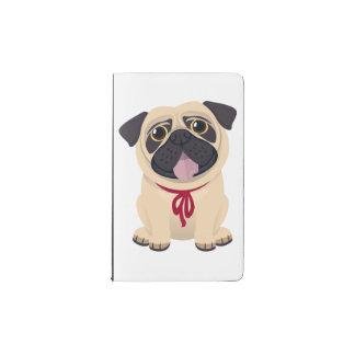 Mops-Welpen-HundeLiebe-Vintage schwarze Tafel Moleskine Taschennotizbuch