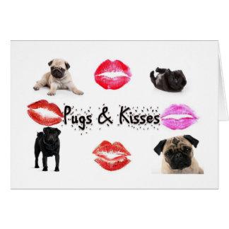 Möpse und Küsse Karte