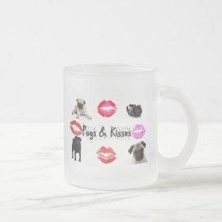 Möpse und Küsse Mattglastasse