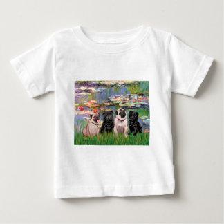 Möpse (vier) - Lilies2 Baby T-shirt