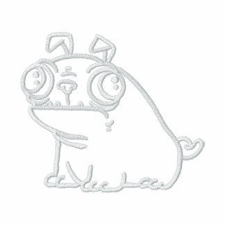 MopsHoodie Bestickter Reißverschluss Hoodie