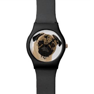 Mopsuhr/schwarz Uhr