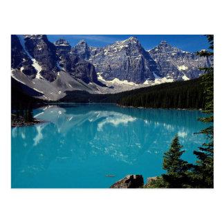 Moraine See, Alberta, Kanada Postkarte