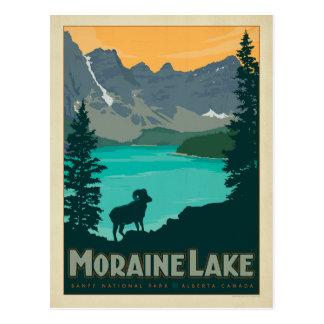 Moraine See, Alberta Kanada Postkarte