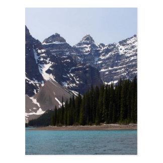 Moraine See nahe Lake Louise in Kanada Postkarte
