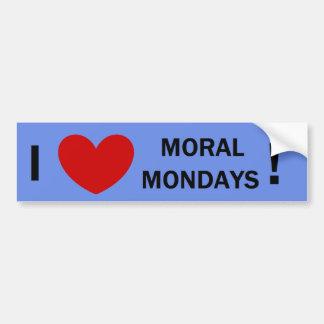 Moralischer Montag Autoaufkleber