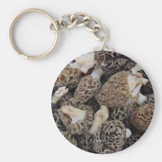 Morchel-Pilze Schlüsselanhänger