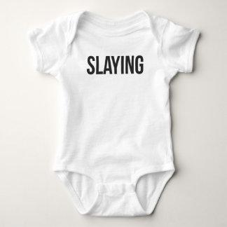 Mord gedruckt baby strampler