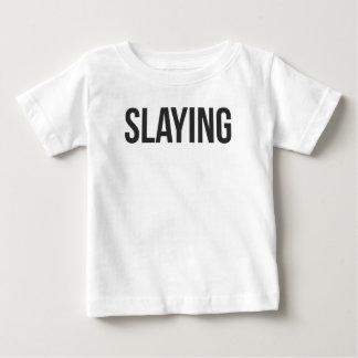 Mord gedruckt baby t-shirt