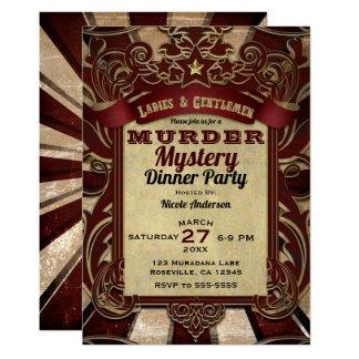 Mord-Geheimnis-Abendessen-Party Karte