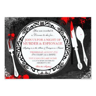 Mord-Geheimnis-Abendessen-Party laden ein Karte